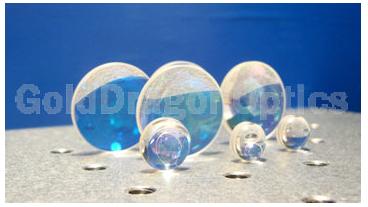 氟化钙(CaF2)双凸球面透镜